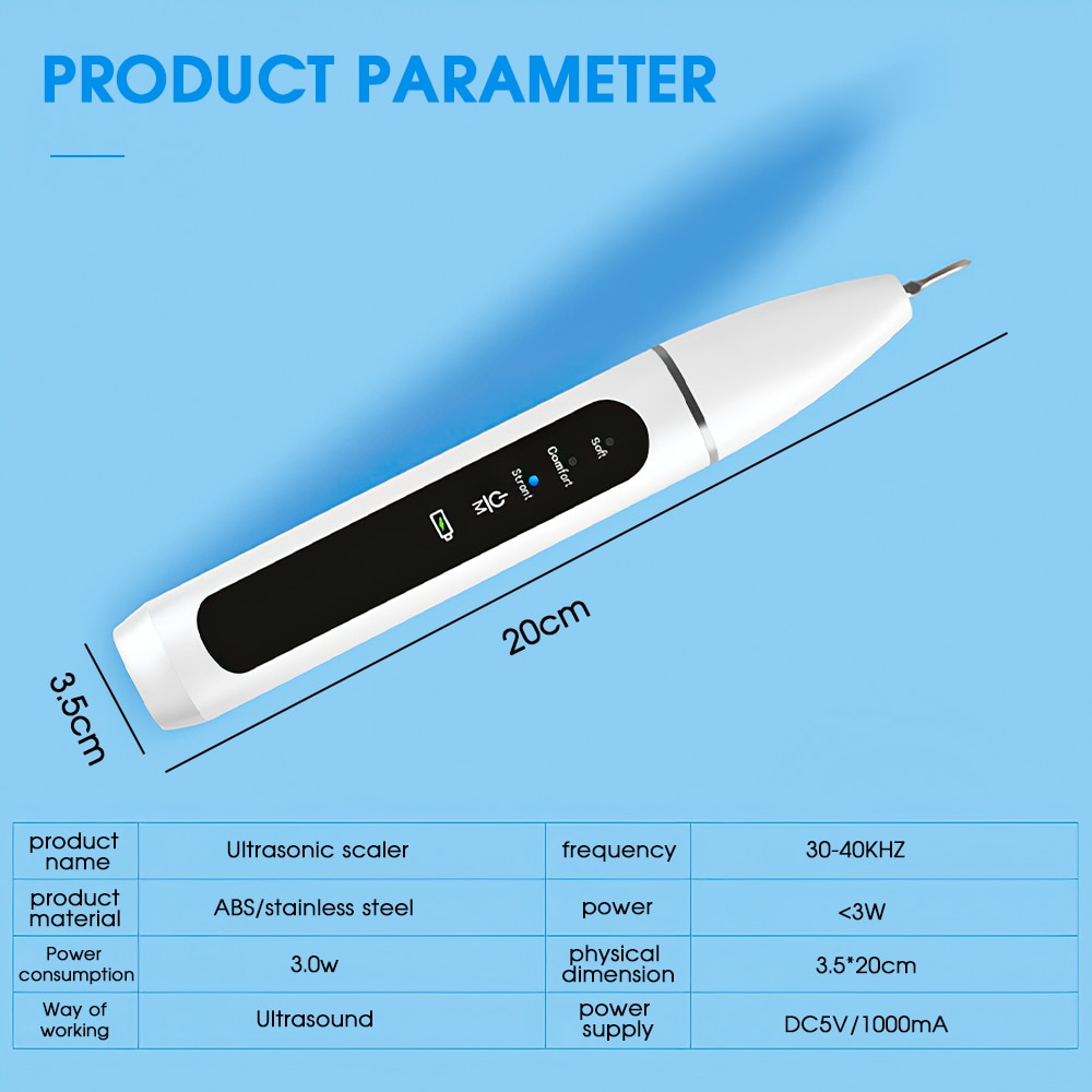 Home Ultrasonic Calculus Remover Dental Scaling Electric Portable Scaler Sonic Smoke Stains Tartar Plaque Dental instrument enlarge