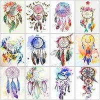 5d diy diamond embroidery dreamcatcher full square round diamond painting scenery mosaic cross stitch art home decoration