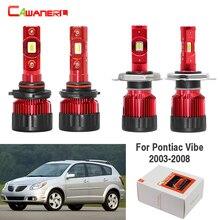 Cawanerl ampoule à 4 pièces   Feu antibrouillard, faisceau Hi/Lo, blanc, 9000LM 12V, pour Pontiac Vibe, 2003 2004 2005 2006 2007