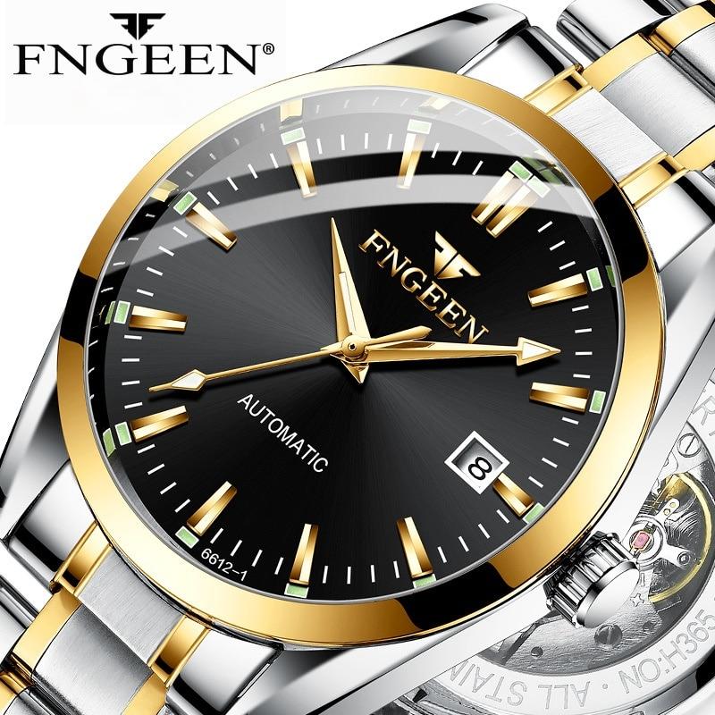 Relógio de Negócios Casual à Prova Homens Marca Superior Fngeen Automático Relógios Mecânicos Auto Windign Masculino Luminosa Moda Dwaterproof Água Relógio