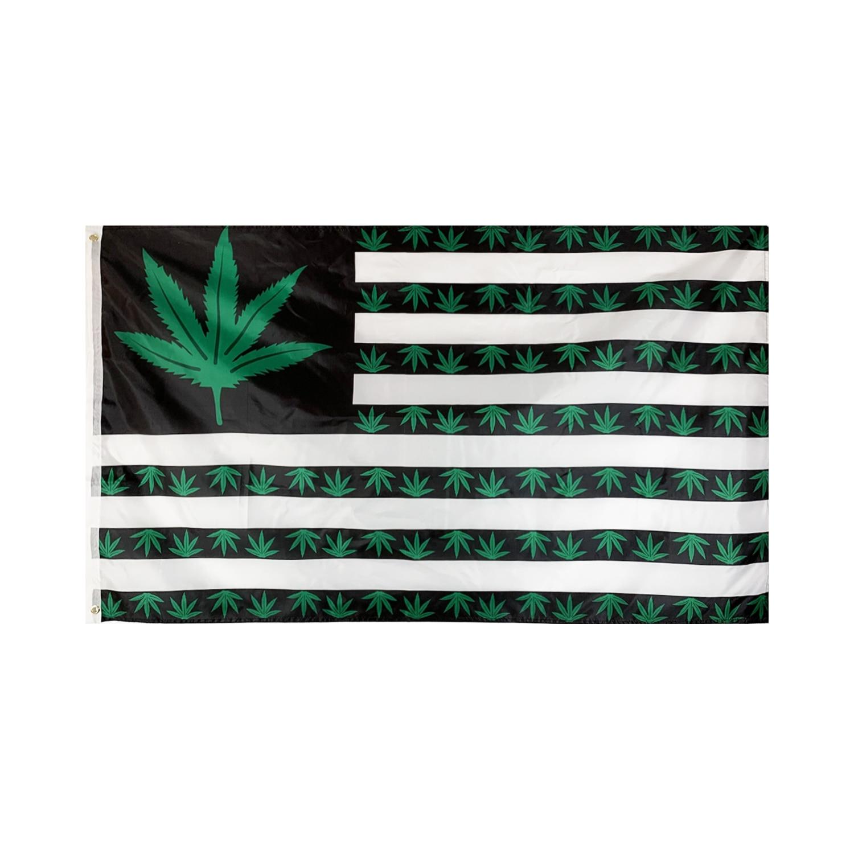 Флаги и баннеры Flagnshow 90x150 см, 3x5 футов, Зеленый Американский лист, флаги и баннеры, американский флаг для украшения комнат