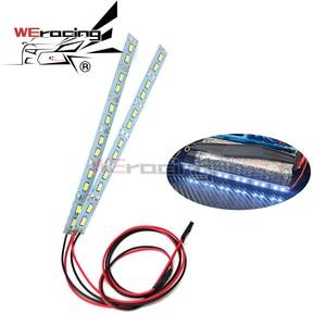 24 LED Dash Lights Underbody Under Chassis Strips Lights System For 1/10 1/8 RC Car Body Shell HSP HPI Sakura Drift Touring
