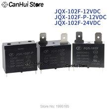 1Pcs HF102F JQX-102F-P-12VDC JQX-102F 12VDC 24VDC 4-pin 20A 250VAC HongFa Scaldabagno Aria Condizionata Relè