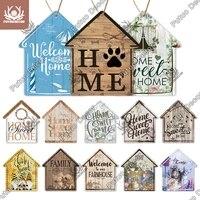 Putuo     Plaque de maison  petit panneau de maison  rustique  Plaque suspendue en bois  pour decor mural de cuisine personnalise