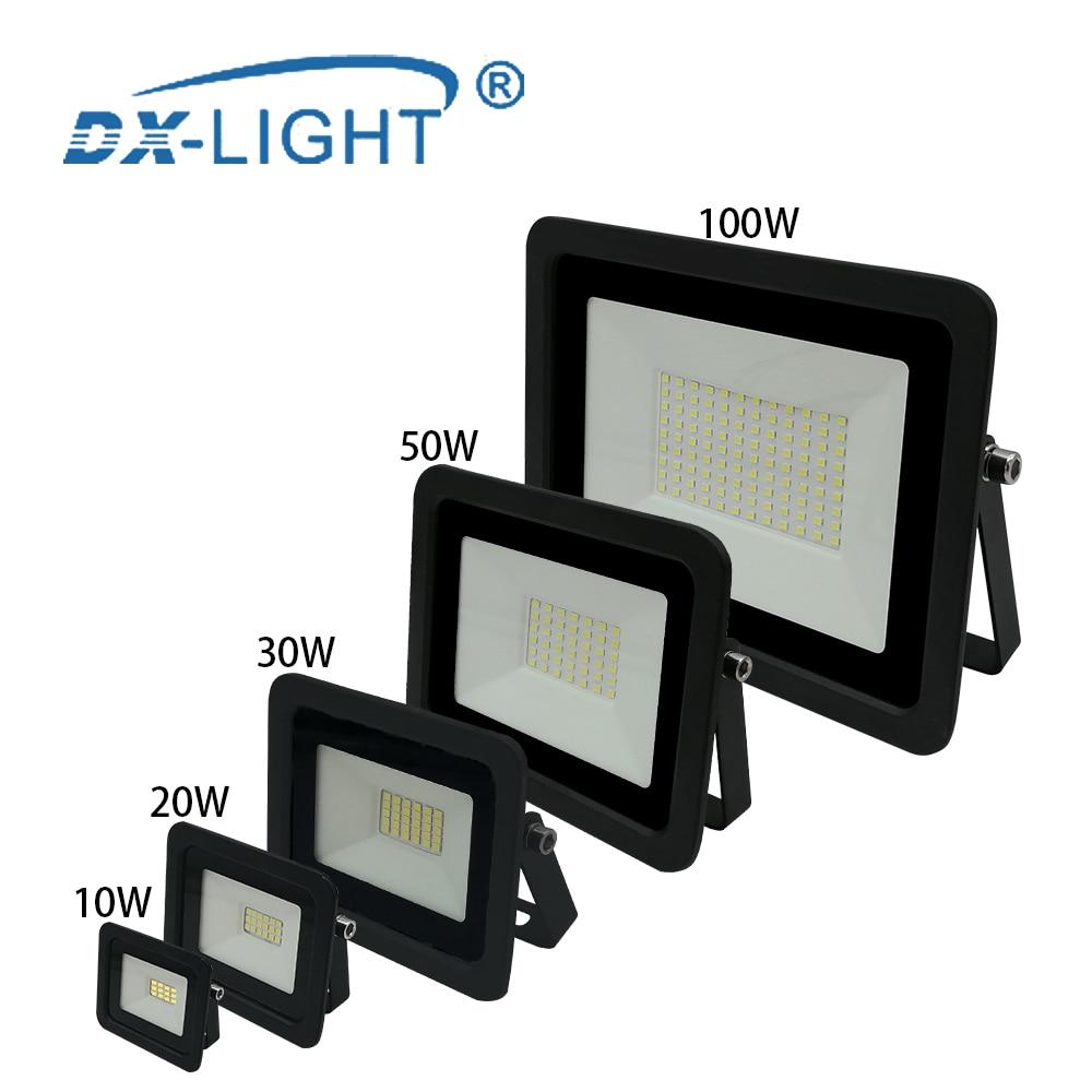 220V 230V 240V LED Engineering light 10W 20W 30W 50W 100W Work lights Street Lamp Reflector IP68 Waterproof Garden Square Light