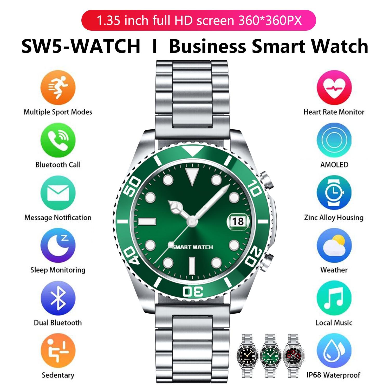 Rolex style Smart Watch 2021 Men Sports Men's Wristwatch Music Watches Huawei Fitness Bracelet Samsung Galaxy Smartwatches