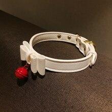 Neko Cosplay noeud collier collier ras du cou avec cloche chat Cosplay Kitty collier réglable collier ras du cou pour femmes filles Halloween