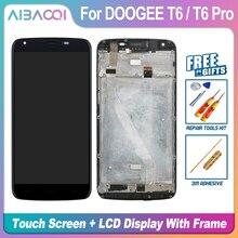 AiBaoQi nueva pantalla táctil Original de 5,5 pulgadas + pantalla LCD 1280X720 + reemplazo de montaje de marco para Doogee T6/T6 Pro Android 6,0