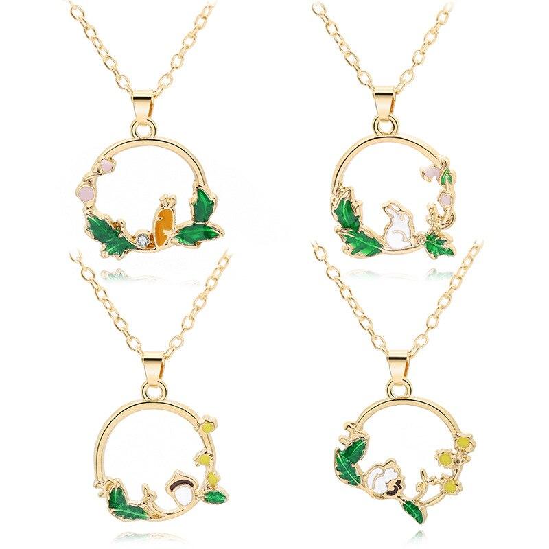 Collar con colgante de cristal de Castillo en el cielo Hayao Miyazaki estilo japonés animal de dibujos animados, cadena de eslabones, joyería, regalo Popular