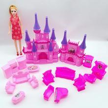 Faire semblant de jouer jouets château maison ensemble meubles de poupée pour poupée filles cadeaux danniversaire de noël