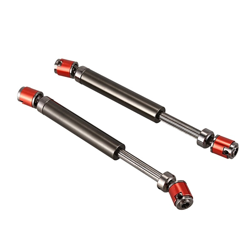 2PCS Metal CVD Drive Shaft 110-140mm for 1/10 RC Rock Crawler Axial SCX10 90046