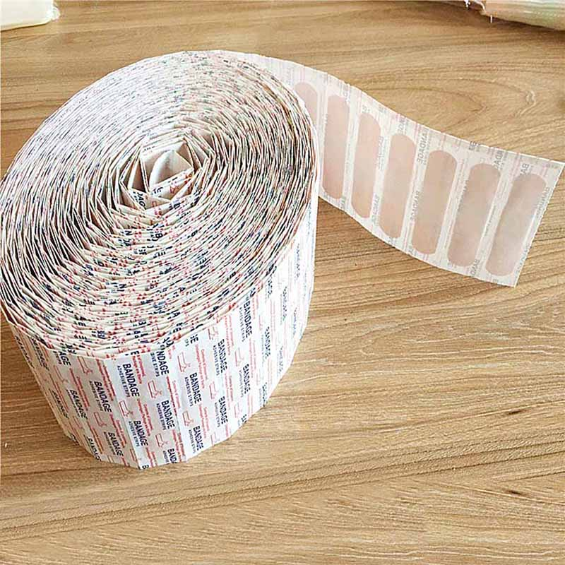 For 100pcs Disposable Band-Aids Waterproof Breathable Cushion Adhesive Plaster Wound Hemostasis Sticker Band First Aid Bandage 50pcs band aid breathable first aid bandage waterproof hemostasis cushion adhesive wound dressing emergency plaster