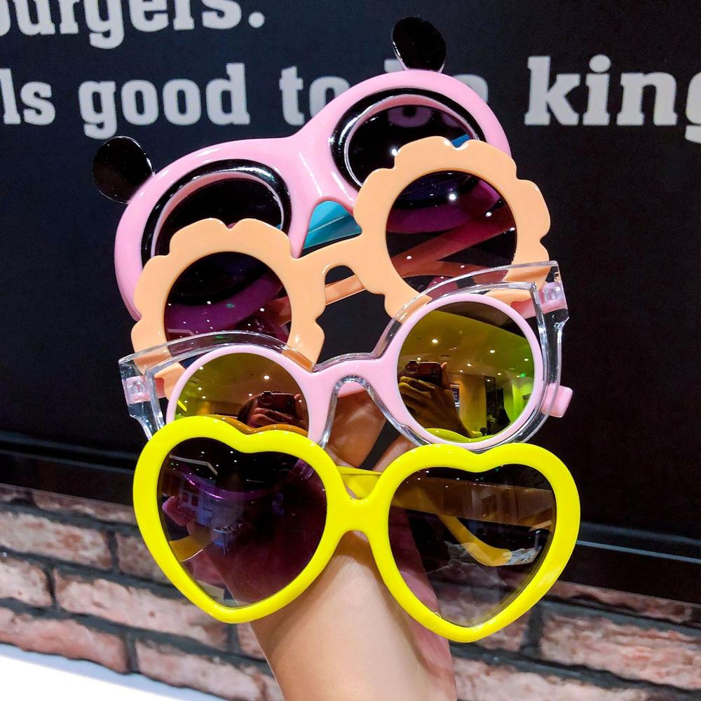 Kawaii Baby Children's Cartoon Sunglasses Protection UV Sunglasses New Fashion Heart Glasses Girls L