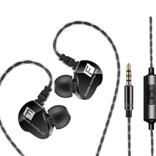 QKZ CK9 Wired Headphones HIFI Bass Stereo Sound Sport Earbud Headset With Microphone Sports Earphone