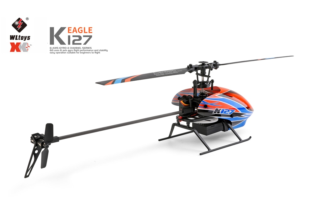 WLtoys K127 min Drone RC Plane Helicopter 2.4G 4CH 6-Aixs Gyroscope Flybarless With Air Pressure Fixed Height RTF Model Airpla