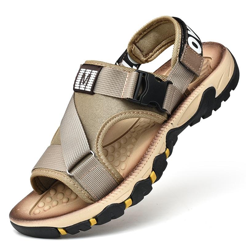الرجال الصنادل أحذية الشاطئ أحذية عادية الرومانية خارج تنفس الرجال الصنادل الصيف مريحة ضوء Sandalias Hombre