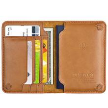 Hohe Qualität Aus Echtem Leder Reisepass Reisepass Abdeckung