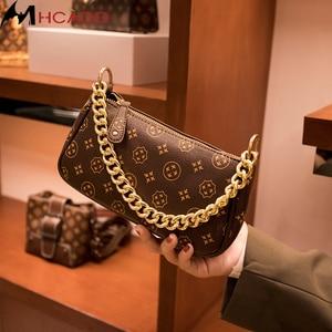 Handbags Women PU Leather Underarm Totes Female Elegant Chain  Small Shoulder Bags Lady Clutch Crossbody Messenger Bag Purses