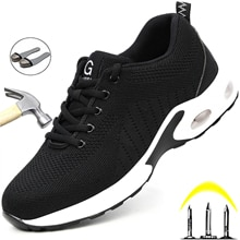 Safety Shoes Women Steel Toe Cap Work Shoes Men Comfort Work Sneakers Puncture-Proof Safety Shoes Me