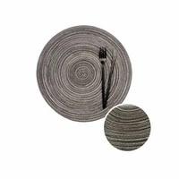 heat insulation non slip insulation cup mats hand woven placemats round woven mats heat resistant insulation non slip mats