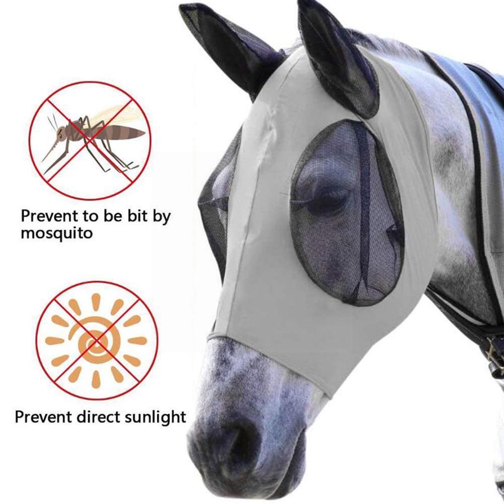 Воздухопроницаемая Летняя Сетка для лошадей, летнее украшение для комаров, глаз животных для семьи лошадей, пруда