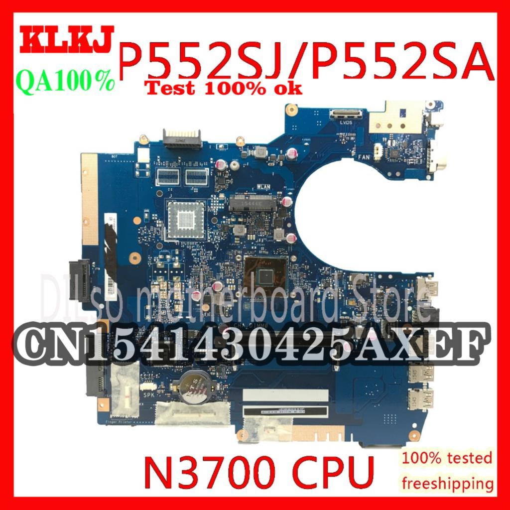 KLKJ P552SA ل ASUS P552SJ PU552SJ PRO552S P552S PU552S P552SA اللوحة المحمول N3700 CPU GM اختبار اللوحة الأم