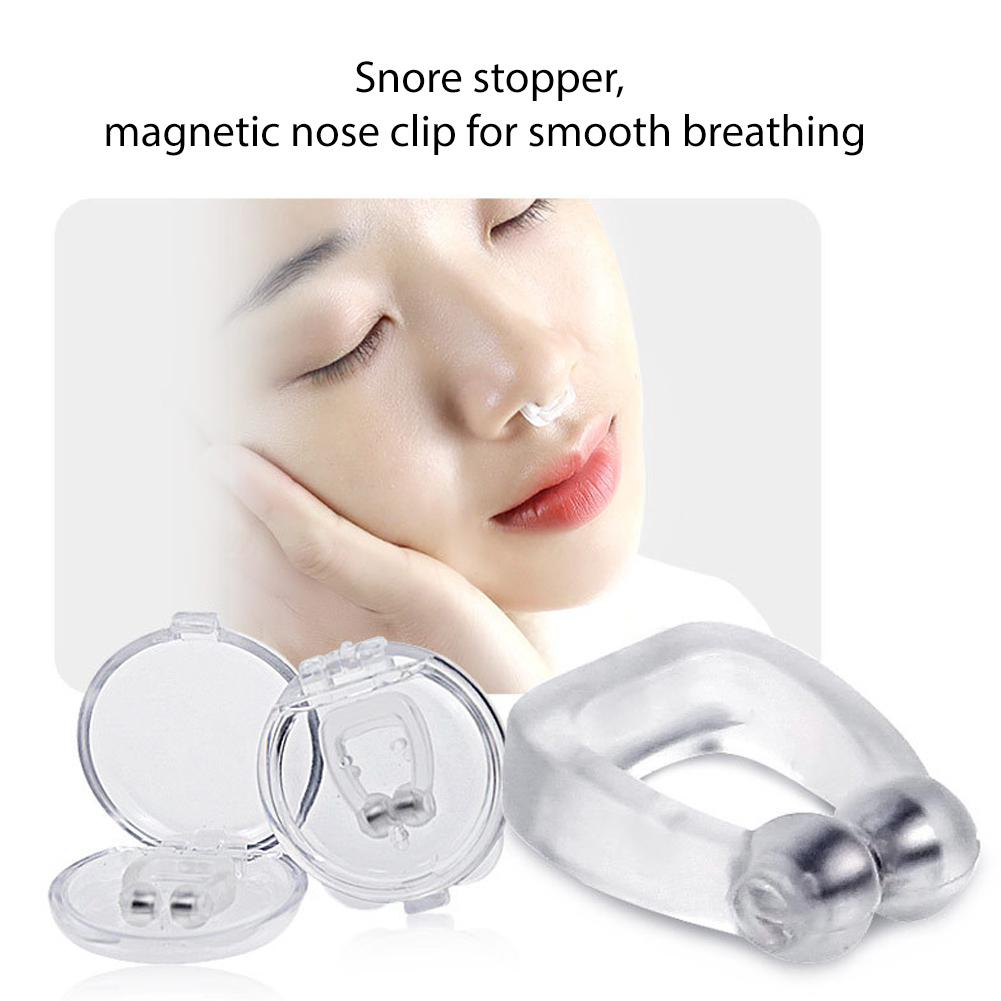 Mini Portable Sleep Snoring Sleeping Aid for Home Travel Personal Health Care Silicone Magnetic Nose Clip Stop Snoring personal meaning inventory for south east asian health care providers