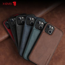 For Iphone 13 12 11 Pro Max Case Luxury Vintage Leather + Tpu Protective Back Cover For Iphone 13 12