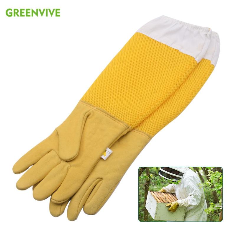 1 Pair Professional Beekeeping gloves for beekeeping bee Beekeeping Protective Gloves with Vented Long Sleeves Beekeeping Safety недорого