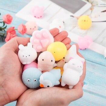 Cartoon Squishy Mochi Anti Stress Fidget Toys Mini Spongy Squishy Kawaii Animal Healing Soft Cute Fun Sensory Toy for Children
