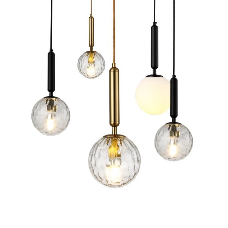 MIIRA 1 BRASS OPTIC By Nuura Pendant Lights Italy Design LED IC Light Glass Ball Luxury Golden Lamp For Foyer Bedroom Bedside