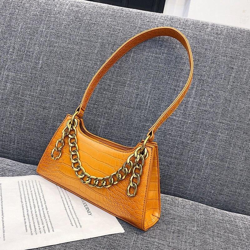 Bolsa feminina de luxo feita em couro, luxuosa, feminina, de ombro, vintage, resistente, para mulheres, 2019