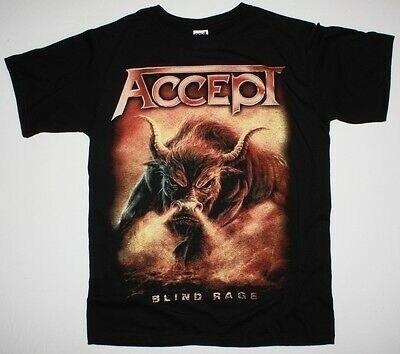 ACCEPT BLIND RAGE WORLD TOUR TEE 2014 U.D.O. HEAVY METAL NEW BLACK T-SHIRT