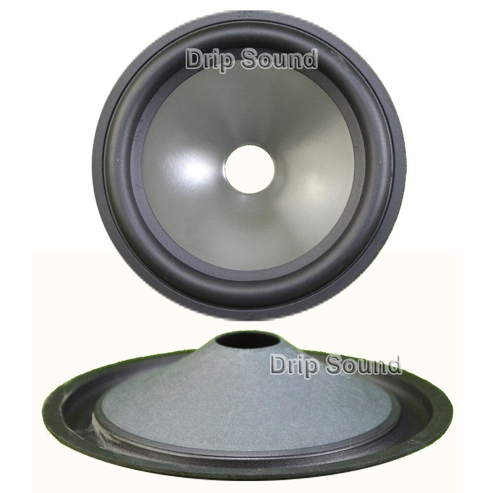 "2pcs 5"" inch 125mm 19mm Core Speaker Cone Paper Basin Woofer Drum Paper Rubber Edge Trumper Bass Repair Parts"