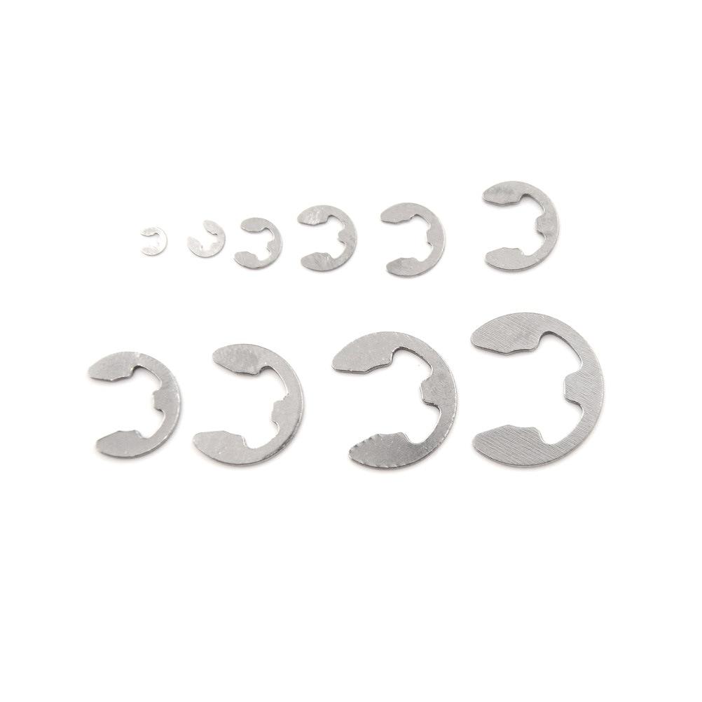 Kit dassortiment de bagues de retenue   Ensemble de lave-linge à clips 120 E en acier inoxydable, Kit de 304 pièces