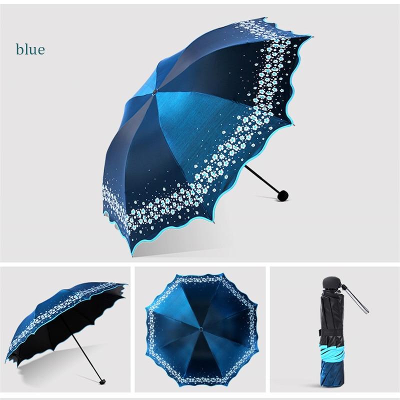 Sombrilla paraíso para oscurecer completamente de Color, sombrilla Flash, paraguas de lluvia para mujer, moda de princesa arqueada, sombrilla femenina, regalo creativo