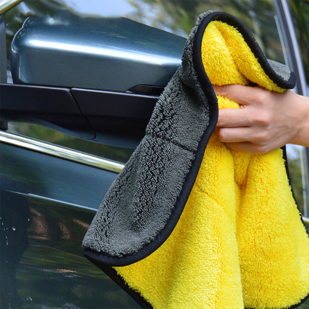 Auto Care Wash Tools 800gsm Polishes Paint Cleaner Thick Plush Microfiber Car Cleaning Microfibre Wax Polishing Detailing Towels