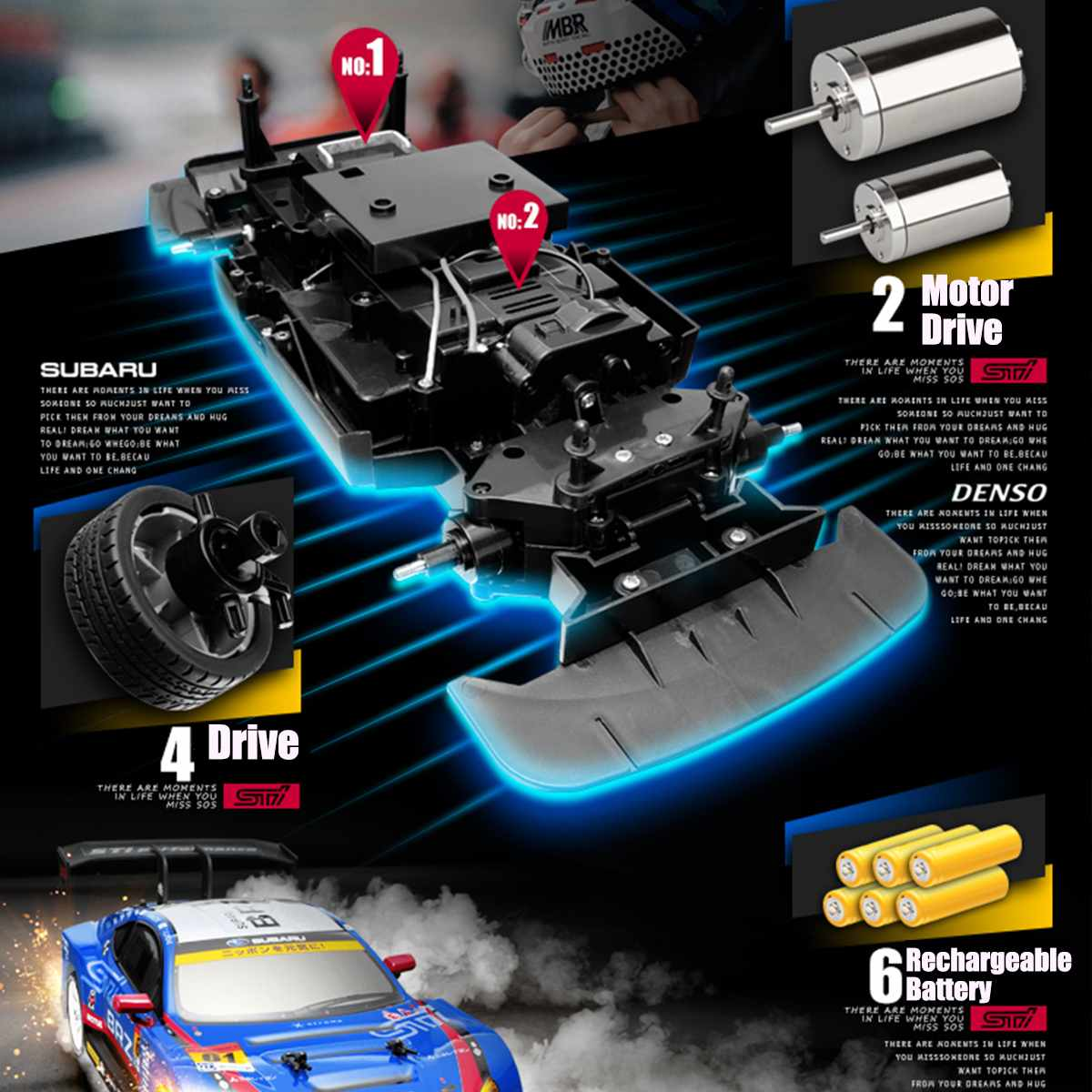 1:16 RC Car 4WD Drift Racing Car Championship 2.4G Off Road Radio Remote Control Vehicle 360 Rotating Stunt RC Car Climbing Car enlarge