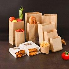 20 unidades de bolsas de pan con ventana, bolsas de papel Kraft para alimentos, para la escuela bolsas de papel, bolsas blancas para hornear, pan tostado y panadería con pegatina