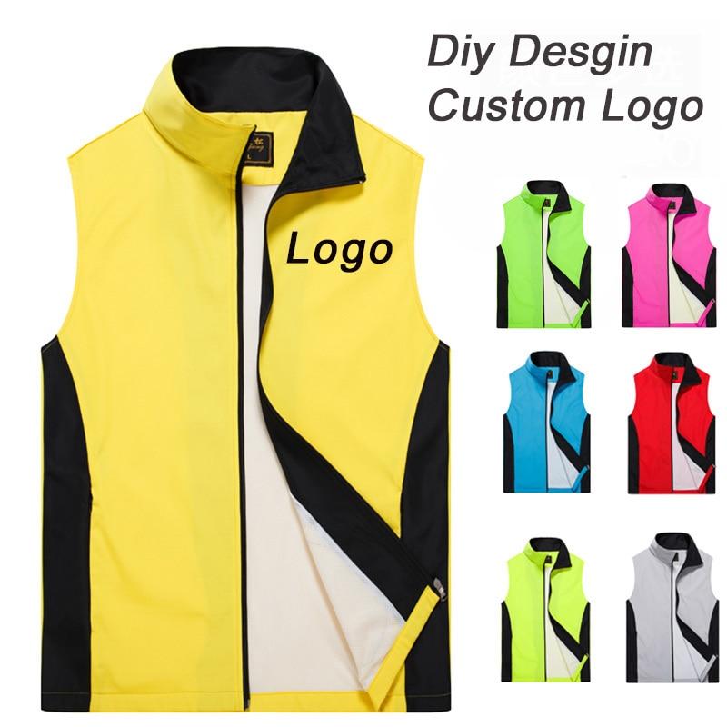 Индивидуальный дизайн, жилеты с принтом логотипа для мужчин и женщин, подходящий цвет, повседневный жилет, рабочий жилет, рабочая одежда, ун...
