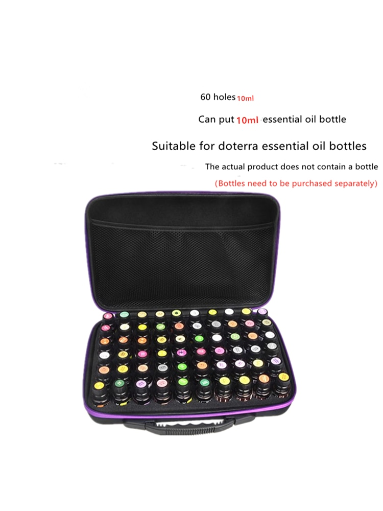 Portable 60 grid essential oil packaging 10ML essential oil storage box suitable for doterra essential oil shockproof essential