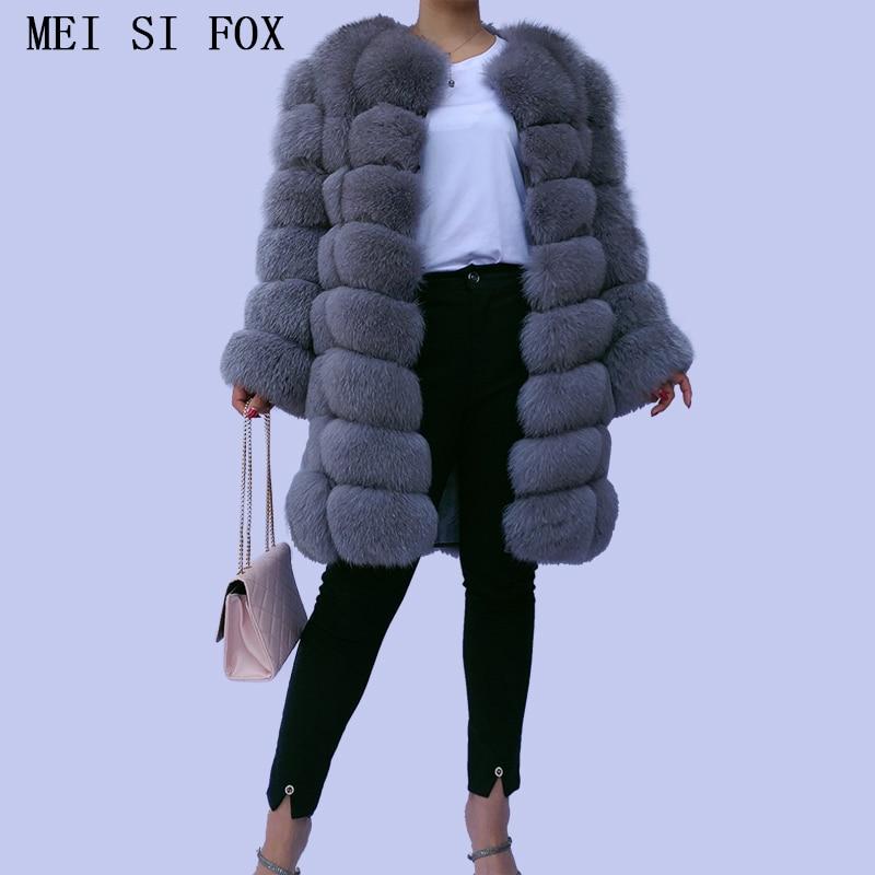 women's fur coat fox fur coat Removable mid-length sleeves fox fur vest fur vests natural fur fur coats women's winter jacket 20 фото