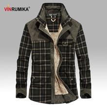 2020 hommes hiver chaud épais polaire décontracté marque bonne qualité 100% coton Plaid chemise homme épaissir armée grille à manches longues chemises