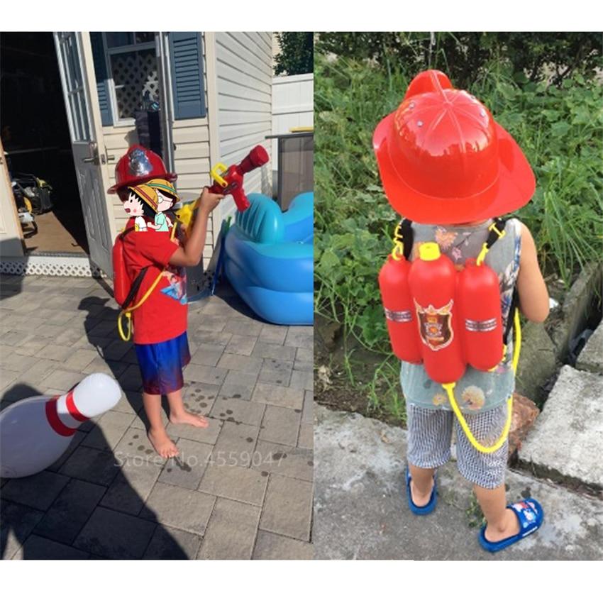 Fireman Kids Uniform Car Tent Sam Cosplay Children Luxury Firefighter Water Gun 6Pcs Toys Set Boy Girl Halloween Costume Gift