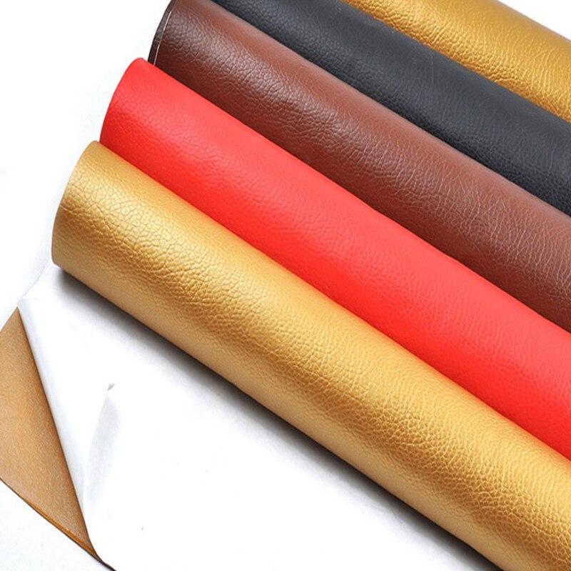 Parche de cuero de tamaño grande de 50x135cm barra autoadhesiva en el sofá sin planchar reparación de cuero PU parches adhesivos de tela Scrapbook