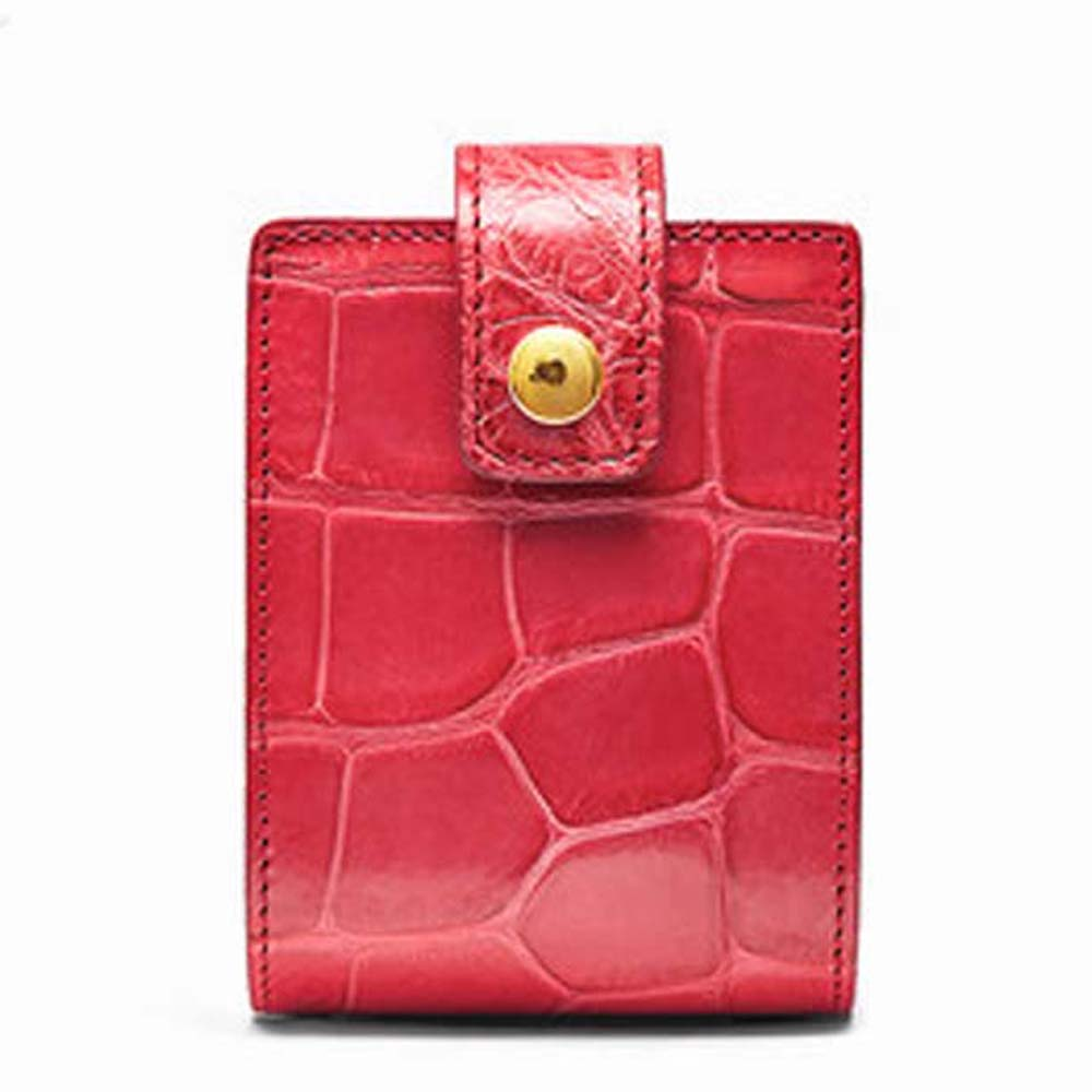 Gete جلد التمساح أحمر الشفاه حقيبة الإناث موضة حقيبة مستحضرات تجميل مصغرة مع مرآة جميلة أحمر الشفاه storag المرأة حقيبة