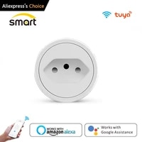 16a brazil standard wifi smart plug outlet with power monitor smart life app smart socket voice works for google home alexa