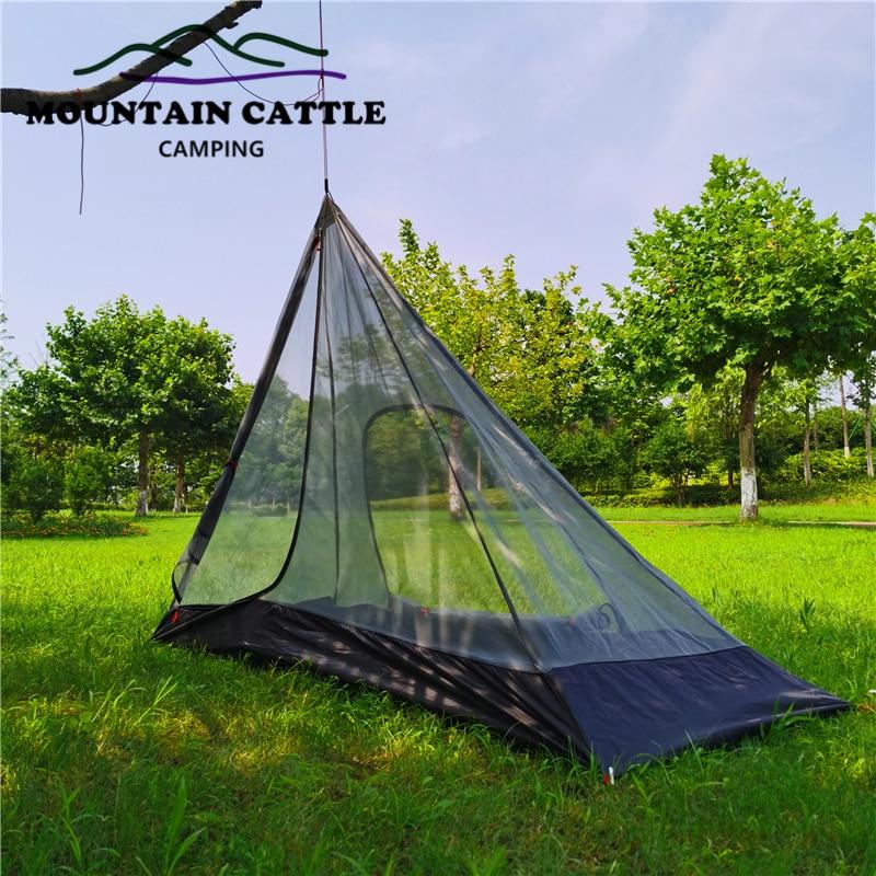 Mountaincattle pirâmide ao ar livre teepee 1 homem mosquiteiro rede de malha interna tenda