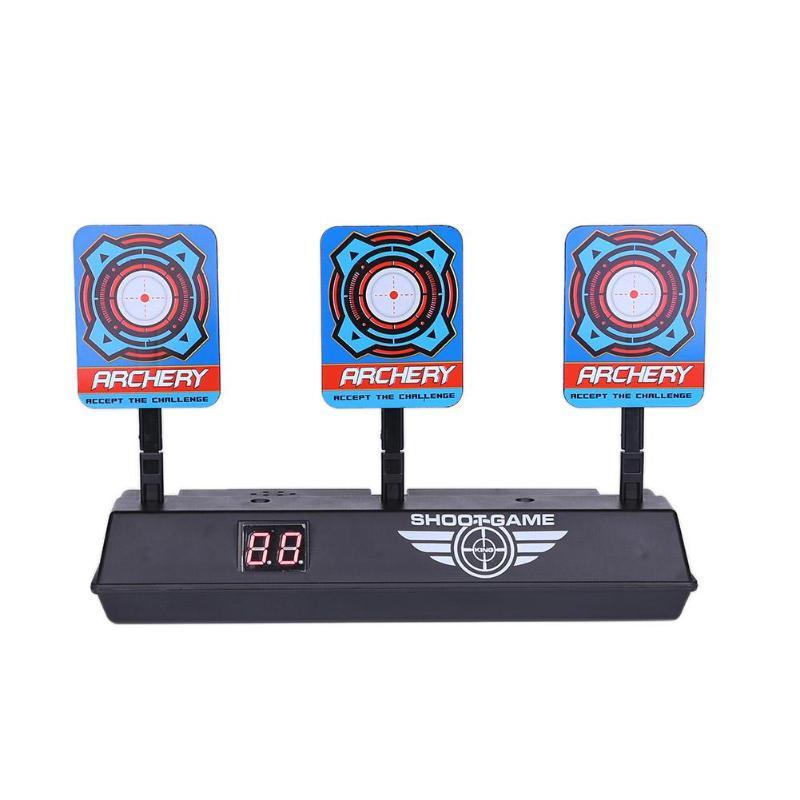 Para Nerf Toys tiro objetivo niños sonido luz juego alta precisión puntuación Auto reinicio eléctrico tiros al blanco para pistolas Accesorios