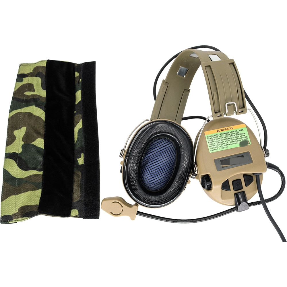 SORDIN Tactical Headset Anti-noise Airsoft Electronic Headphone Pickup Noise Reduction Hearing Protection Earmuffs  DE enlarge